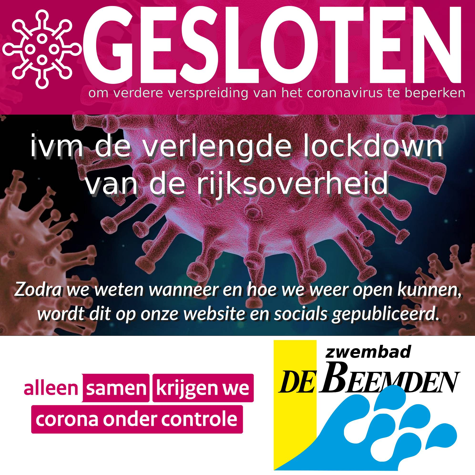 UPDATE: Lockdown verlengd tot 20 april