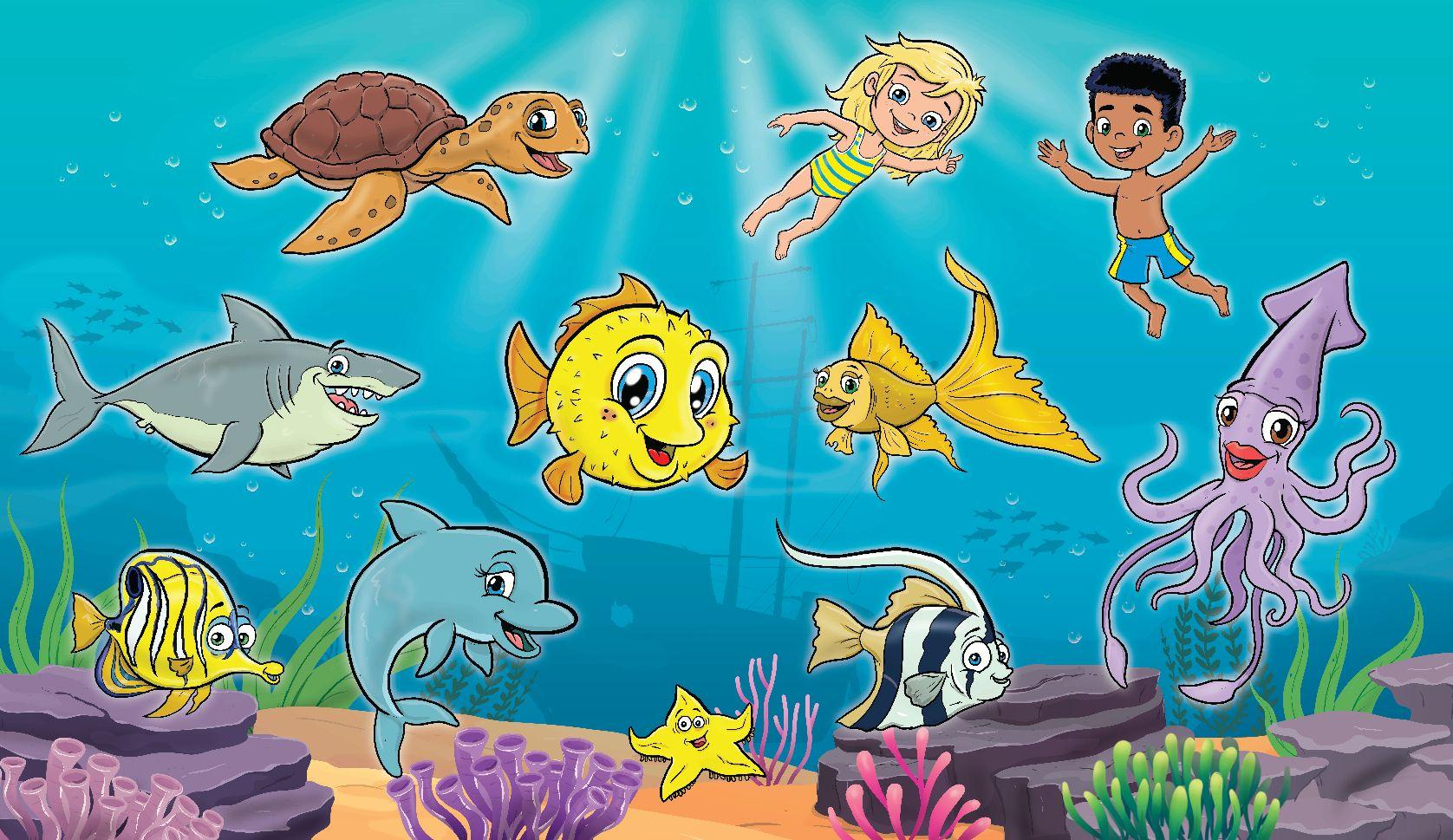 Mascotte voor zwembad De Beemden